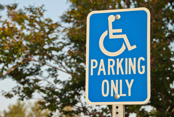 Image of a mobility parking sign